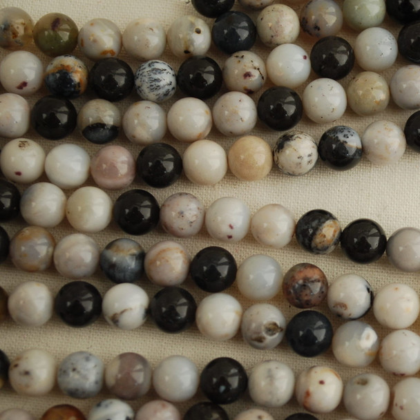 High Quality Grade A Natural Dendritic Agate Gemstone Round Beads 4mm, 6mm, 8mm, 10mm sizes