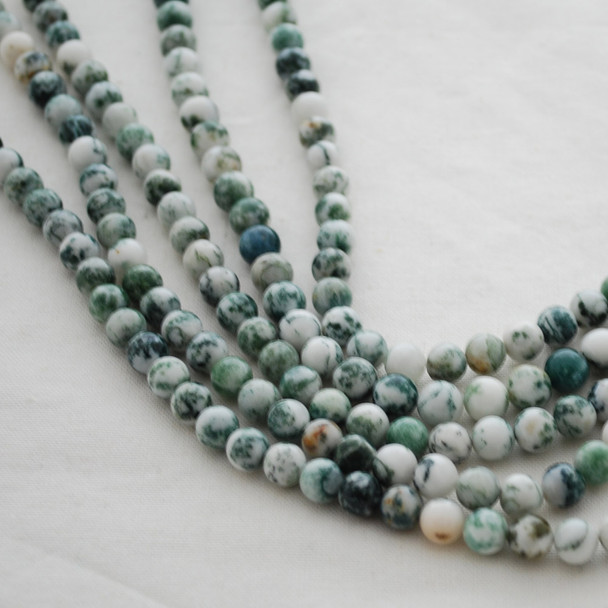 High Quality Grade A Natural Tree Agate Gemstone Round Beads 4mm, 6mm, 8mm, 10mm sizes