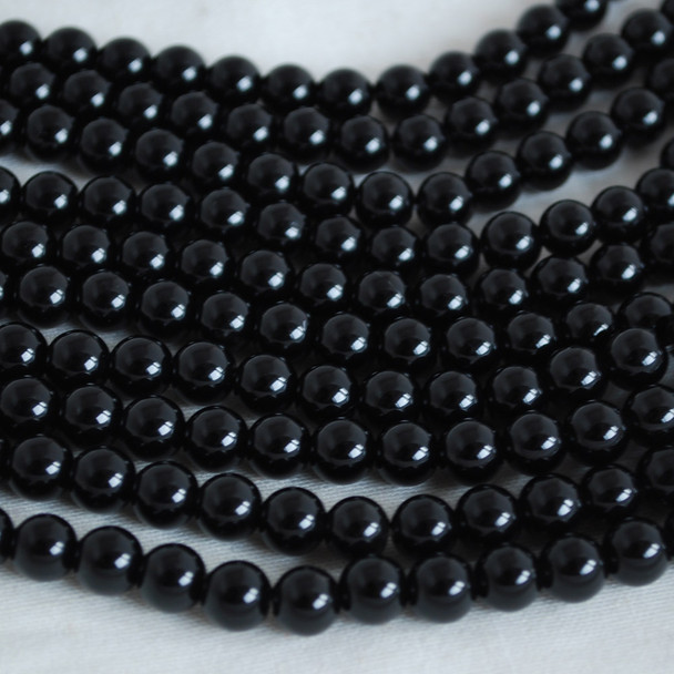 High Quality Grade A Natural Black Obsidian Gemstone Round Beads 4mm, 6mm, 8mm, 10mm sizes