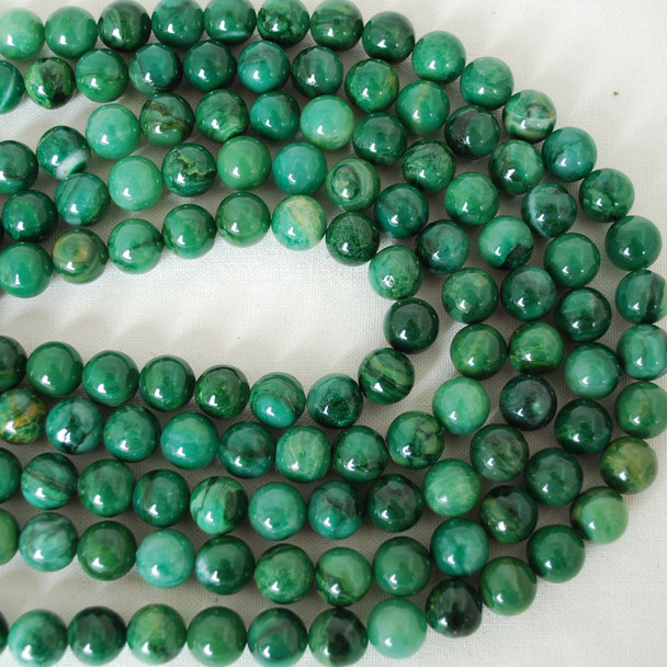 High Quality Grade A Natural Verdite African Jade Gemstone Round Beads 4mm, 6mm, 8mm, 10mm sizes