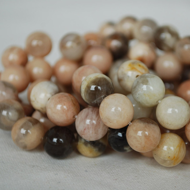 High Quality Grade A Natural Feldspar Gemstone Round Beads - 6mm, 8mm, 10mm sizes