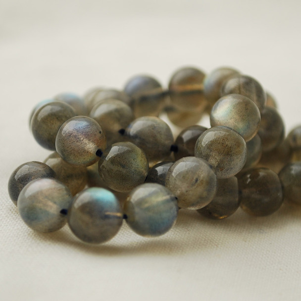 "High Quality Grade AAA Natural Labradorite Semi-Precious Gemstone Round Beads - 8mm - 15"" long"