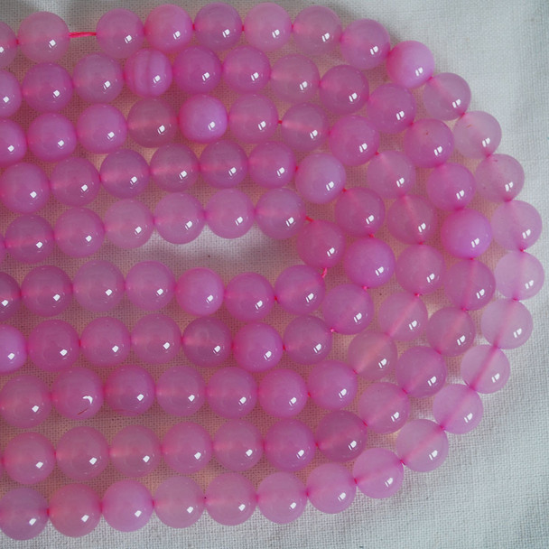 High Quality Grade A Light Pink Agate Semi-precious Gemstone Round Beads 4mm, 6mm, 8mm, 10mm sizes