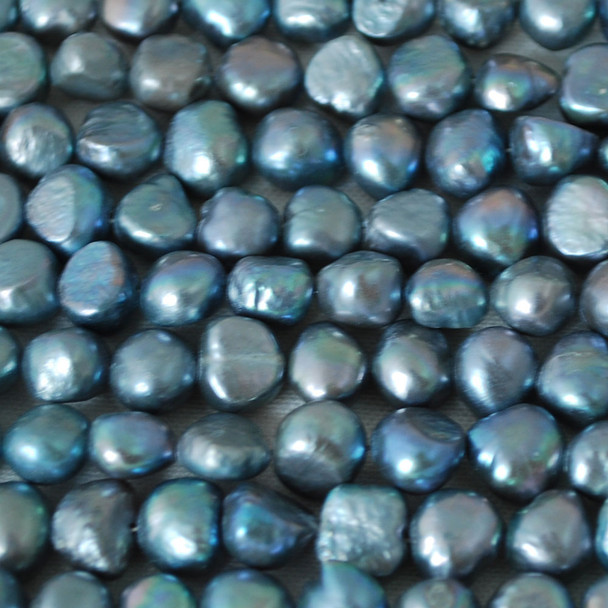"16"" Strand Natural Freshwater Pearl Beads Nuggets Grey 7 - 9mm Grade A"