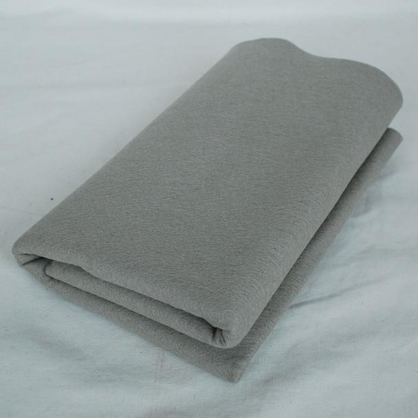 100% Wool Felt Fabric - Approx 1mm Thick - Silver Grey - 40cm x 50cm