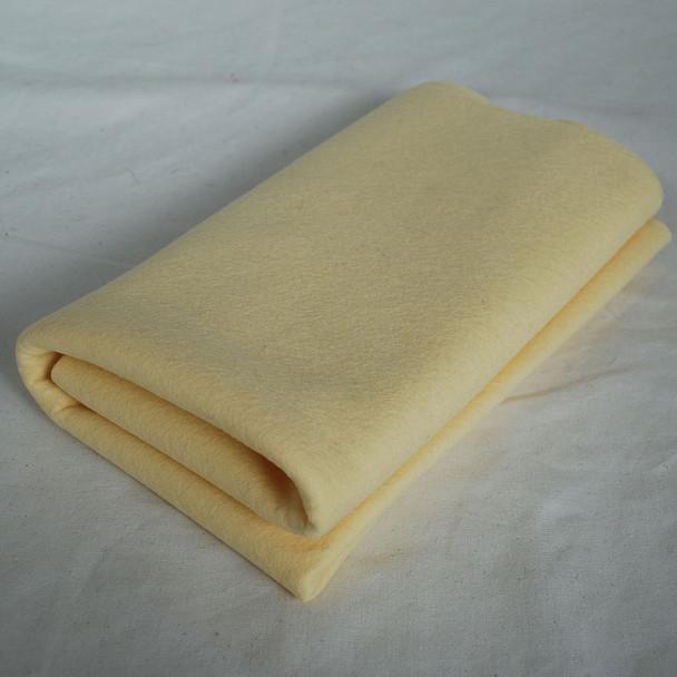 100% Wool Felt Fabric - Approx 1mm Thick - Butter Cream - 40cm x 50cm