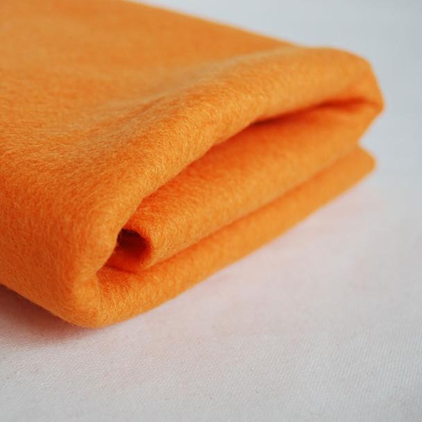 100% Wool Felt Fabric - Approx 1mm Thick - Peach Orange