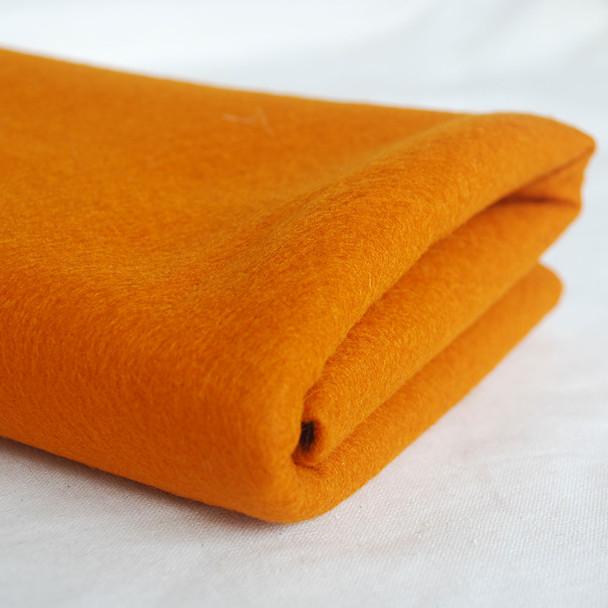 100% Wool Felt Fabric - Approx 1mm Thick - Carrot Orange
