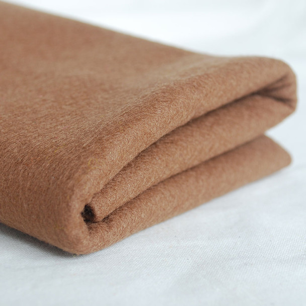 100% Wool Felt Fabric - Approx 1mm Thick - Light Brown - 40cm x 50cm