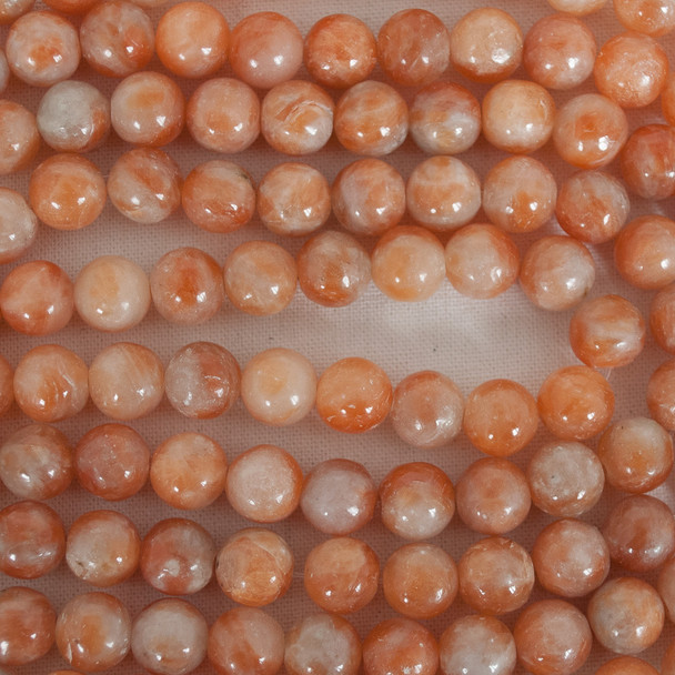 High Quality Orange Calcite (dyed) Semi-precious Gemstone Round Beads - 4mm, 6mm, 8mm, 10mm sizes
