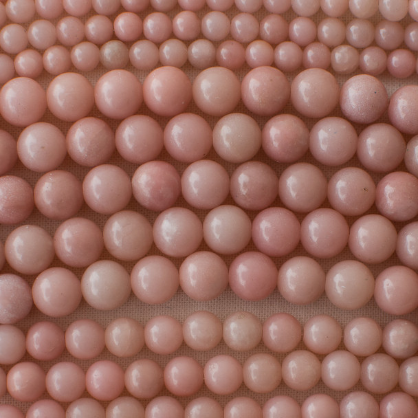 High Quality Grade A Natural Pink Jade Semi-precious Gemstone Round Beads - 4mm, 6mm, 8mm, 10mm sizes