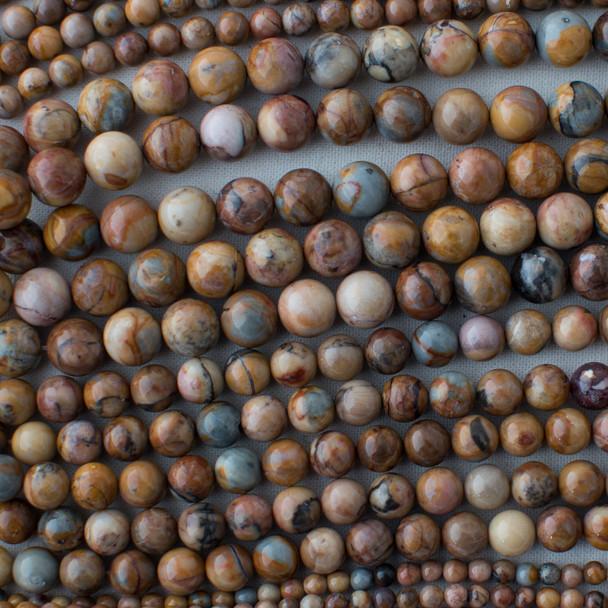 High Quality Grade A Natural Venus Jasper Semi-precious Gemstone Round Beads - 4mm, 6mm, 8mm, 10mm sizes