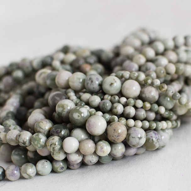 High Quality Grade A Natural Peace Jade Semi-precious Gemstone Round Beads - 4mm, 6mm, 8mm, 10mm sizes