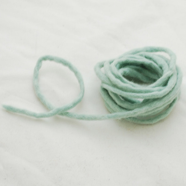 100% Wool Felt Cord - Handmade - 3 Metres - Powder Blue
