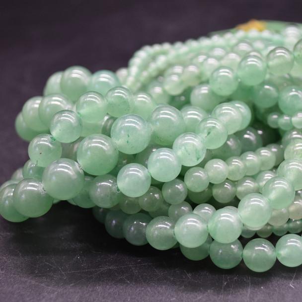 High Quality Grade A Natural Green Aventurine Semi-Precious Gemstone Round Beads - 4mm, 6mm, 8mm, 10mm