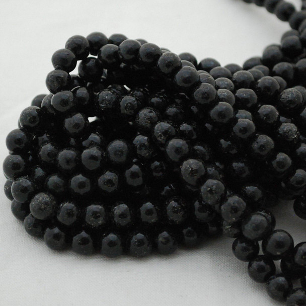 "High Quality Grade A Natural Biotite Semi-Precious Gemstone Round Beads - 8mm, 10mm, 12mm sizes - 15.5"" long"