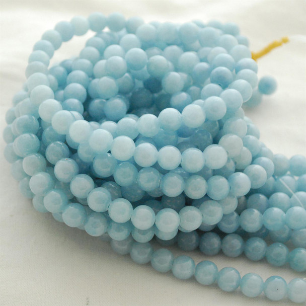 High Quality Grade A Blue Calcite (dyed) Semi-precious Gemstone Round Beads - 4mm, 6mm, 8mm, 10mm sizes