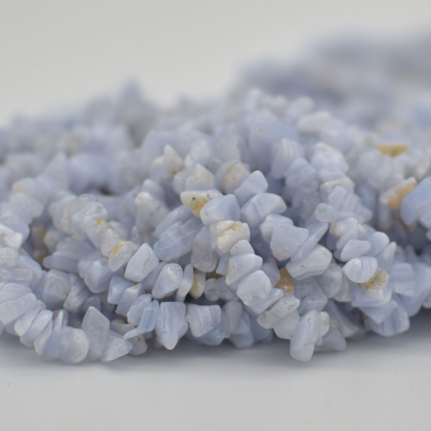 """36"""" Strand High Quality Natural Blue Lace Agate Beads Chips 10mm"""