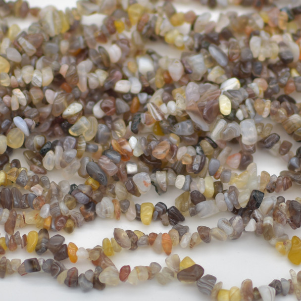 """36"""" Strand High Quality Natural Botswana Agate Beads Chips 10mm"""
