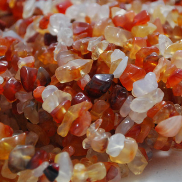 """36"""" Strand High Quality Natural Carnelian Red Fire Agate Beads Chips 10mm"""
