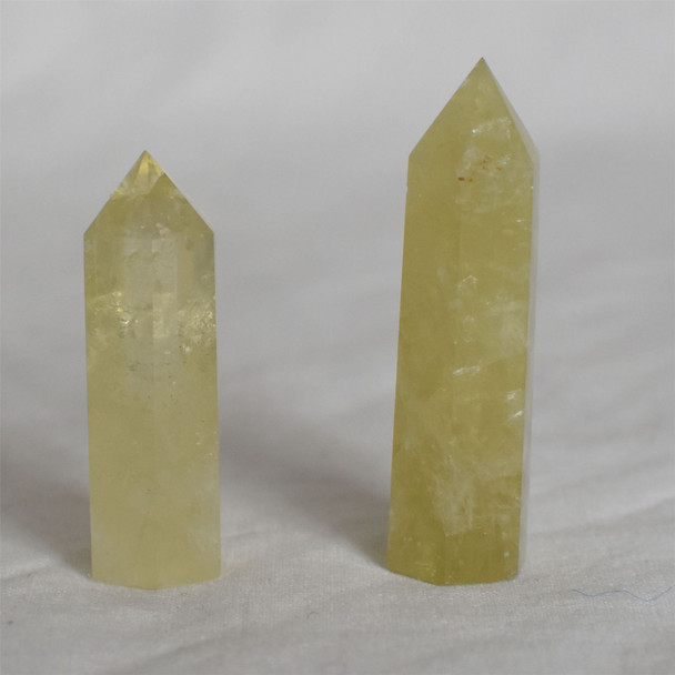 Natural Yellow Quartz Semi-precious Gemstone Point / Tower / Wand  - 1 Count - Various sizes