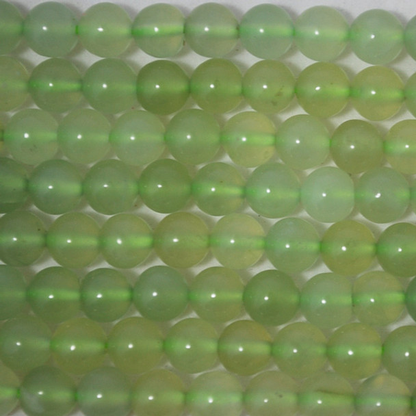 High Quality Grade A Natural New Jade Semi-Precious Gemstone Round Beads - 4mm, 6mm, 8mm, 10mm