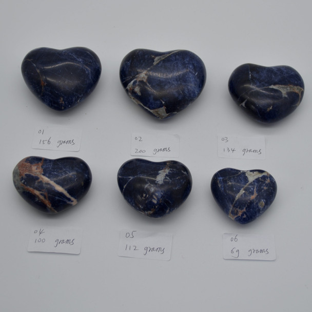 High Quality Natural Sodalite Heart Semi-precious Gemstone Heart - 1 Gemstone Heart - 112 grams - #5