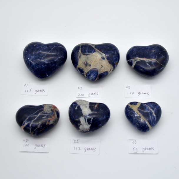 High Quality Natural Sodalite Heart Semi-precious Gemstone Heart - 1 Gemstone Heart - 69 grams - #6