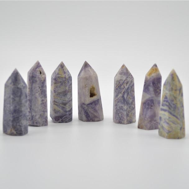 Natural Silky Fluorite Semi-precious Gemstone Point / Tower / Wand - 1 Count - approx 5.5cm - 6cm  x 2cm - 2.5cm #2