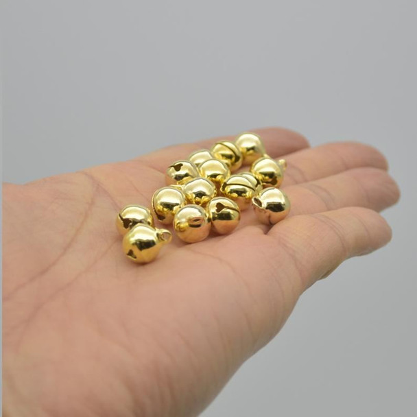 Metallic Jingle / Sleigh Bells - Gold  - 100 Count - 10mm