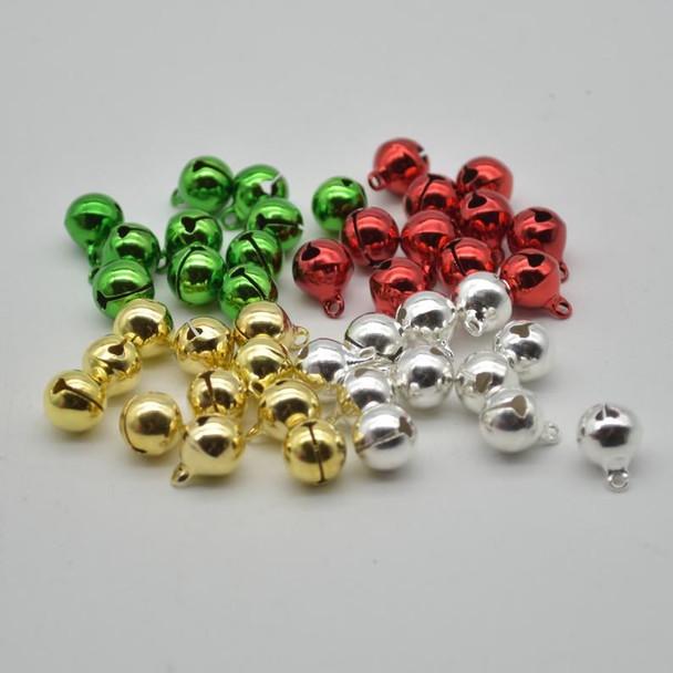 Metallic Jingle / Sleigh Bells - Assorted Colours  - 100 Count - 10mm