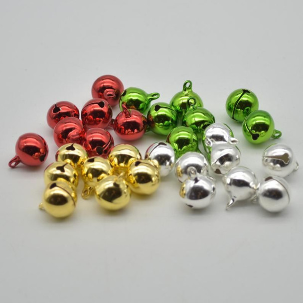 Metallic Jingle / Sleigh Bells - Assorted Colours  - 100 Count - 14mm