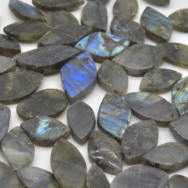 5 Labradorite Gemstone Pendants - Assorted Patterns and Sizes