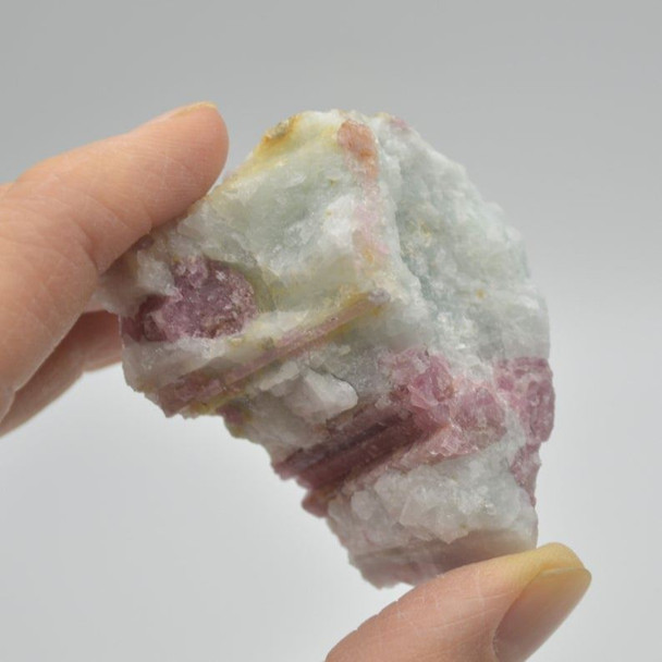 Raw Natural Pink Tourmaline Crystal - 1 count - 56 grams - 3.5cm x 5cm x 3cm