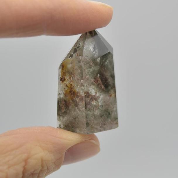 Natural Green Phantom Quartz Gemstone Point / Tower / Wand  - 1 Count - 3cm - 4cm