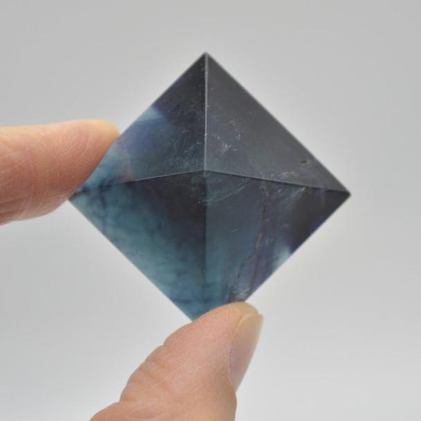Natural Rainbow Fluorite Semi-precious Gemstone Pyramid - 1 Count - 2.5cm - 3cm x 3cm - 25 - 30 grams