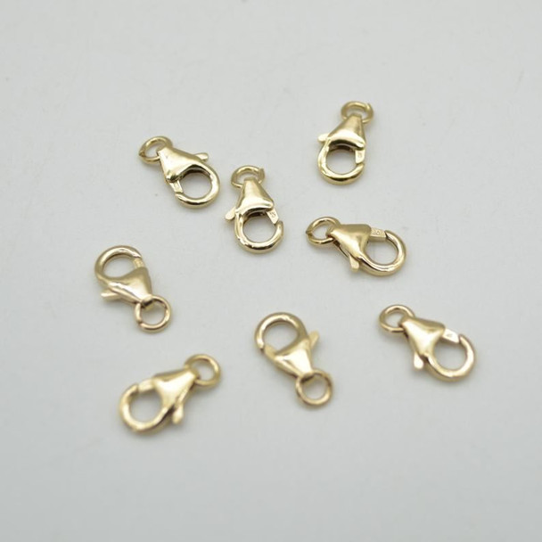 14K Gold Filled Findings - Gold Filled Medium Trigger Clasp With Open Ring - 6mm x 10mm - 1 or 5 Count - Made in Italy