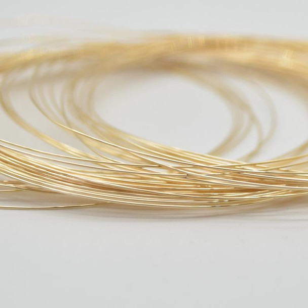 14K Gold Filled Findings - Gold Filled Coil Wire 2# hard wire- 0.64mm - 50cm or 100cm lengths - Made in USA