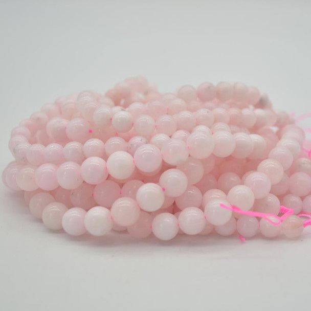"High Quality Grade A Pink Calcite (dyed) Semi-precious Gemstone Round Beads - 8mm, 10mm sizes - 15.5"" strand"