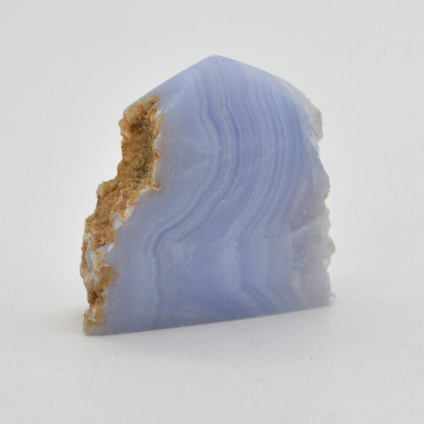 Natural Blue Lace Agate Semi-precious Gemstone Slice - 1 count - 5cm x 5cm x 1.5cm - 66 grams - #02