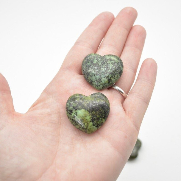 Natural African Turquoise Gemstone Heart - 1 count - 3cm - 13 grams