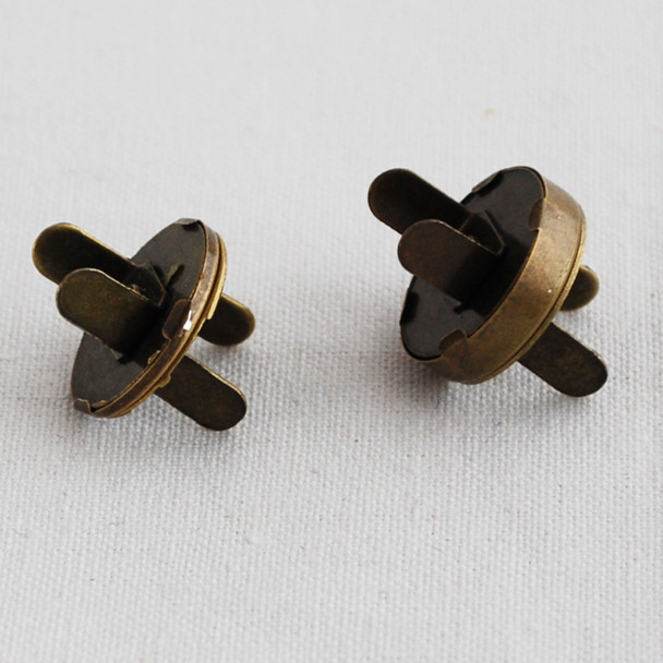 10 Sets 2mm Extra Thin Magnetic Snap Button Bag Clasp - 18mm - Antique Bronze
