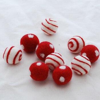 Wool Felt - Felt Polka Dots Swirl Balls