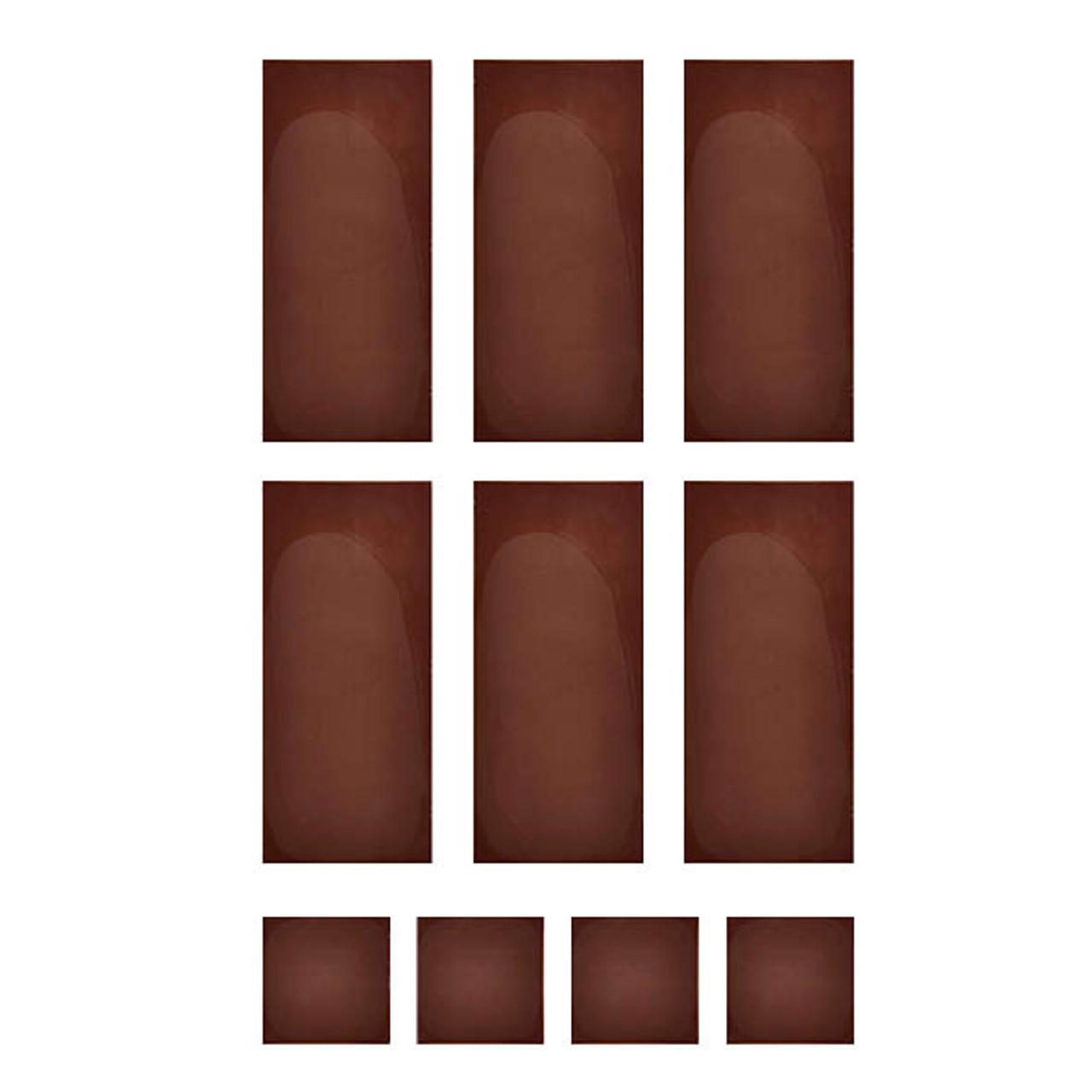 Chocolate Template (Chablon) Rectangle & Square