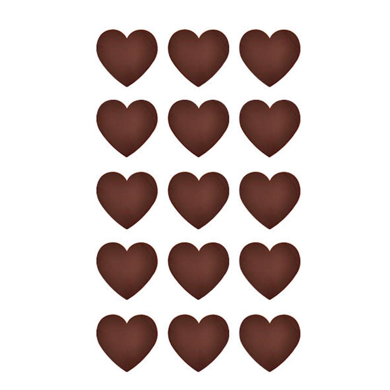 Chocolate Template (Chablon) Hearts