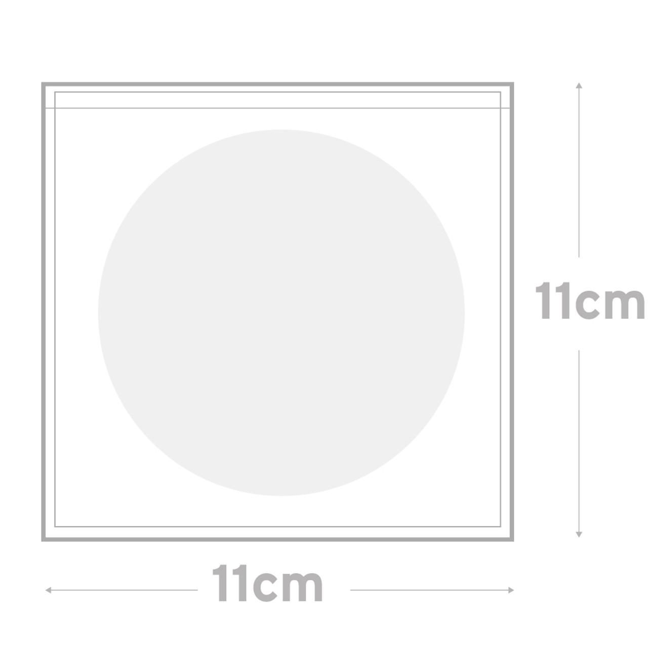 Peel & Seal Bag  Pkt 100 - 11 x 11 cm