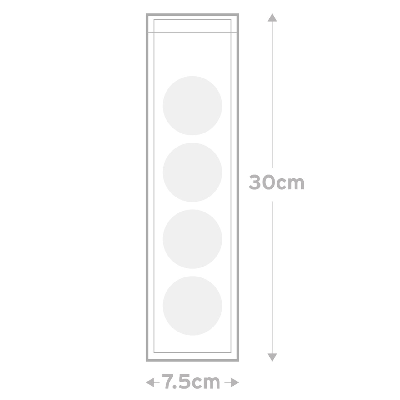 Peel & Seal Bags  Pkt 30  -   7.5  x  30.0 cms