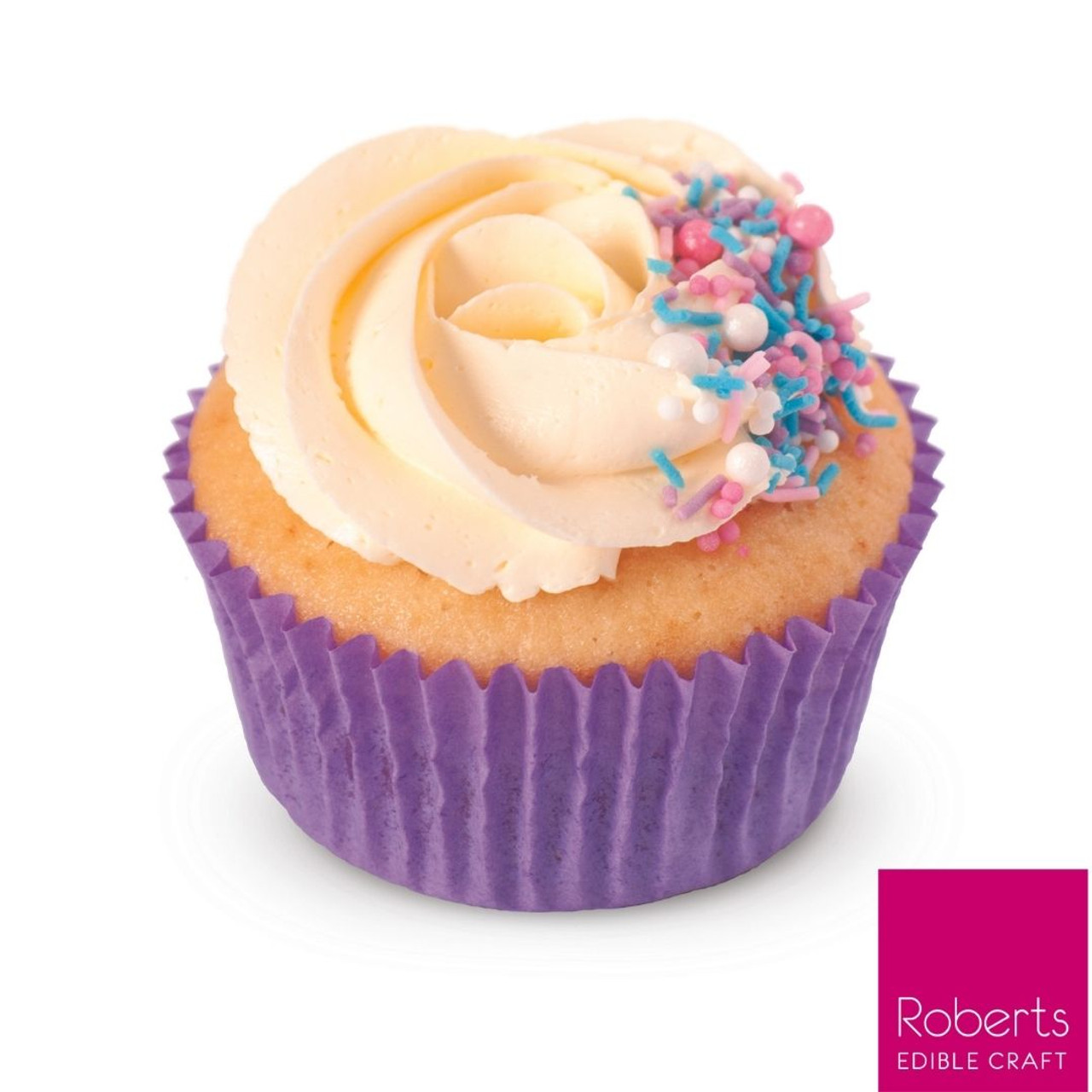 Vanilla Party Cupcake Kit - Sprinkles & Cases Included
