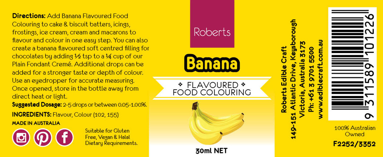 Banana Flavoured Food Colouring
