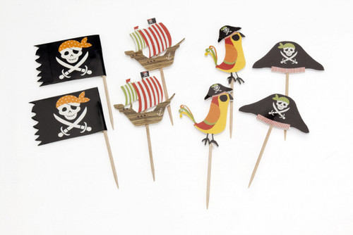 Cupcake Topper - Pirate Pkt 8